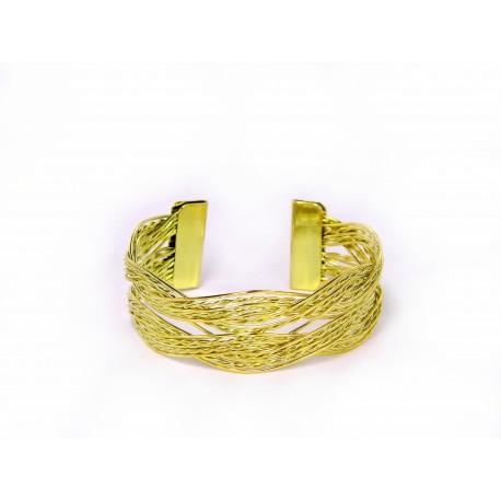 Zlatý náramek Braid