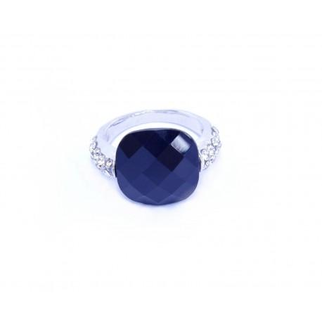 Prsten s černým krystalem Mysterious