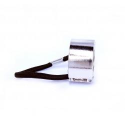 Kovová gumička do vlasů Ring stříbrná