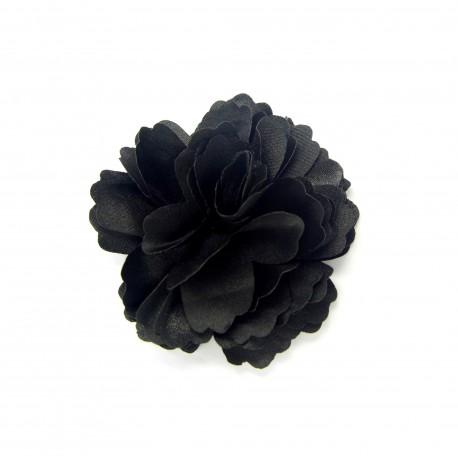 Látková květina Rose černá
