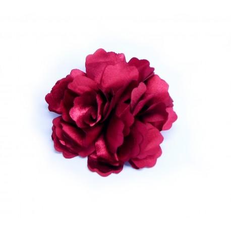 Látková květina Rose vínová