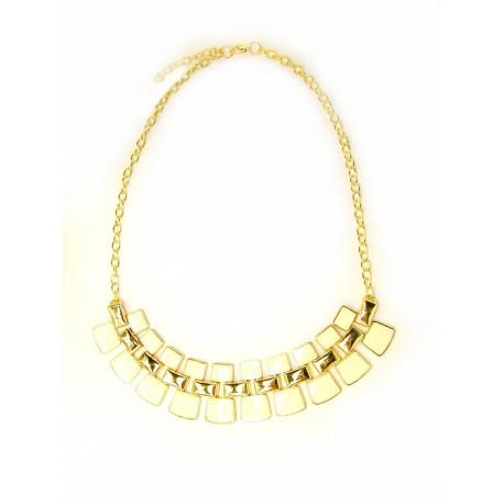 Statement náhrdelník Quadrio bílý