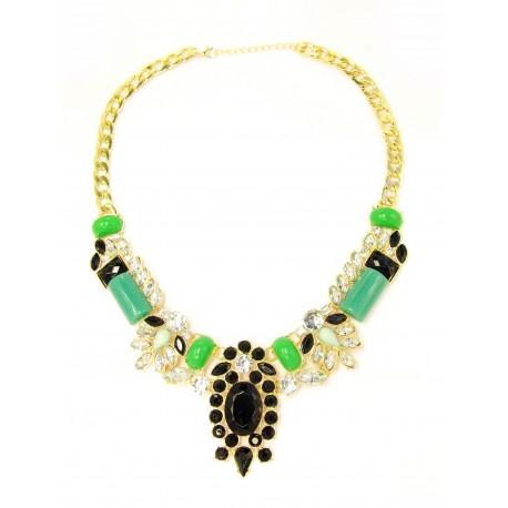 Statement náhrdelník Sophisticated Emerald