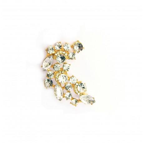 Náušnice Ear Cuff Crystal zlatý